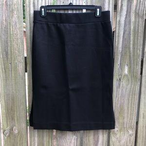 Madewell column side slit skirt in black, NWT